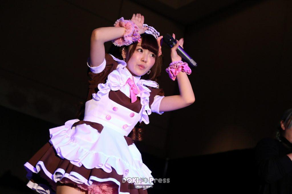 Hitomi performs a musical performance on-stage at Pacific Media Expo 2016.