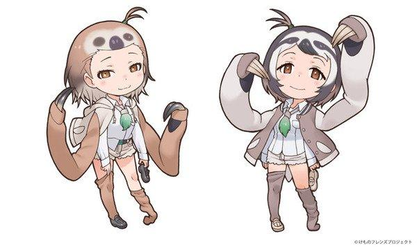 Kemono Friends' Sloths Debut in New Zoo Collaboration in June