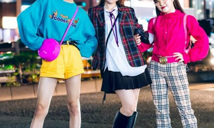Colorful Harajuku Street Styles w/ Scooby Doo Sweater, Funktique Tokyo Plaid, Ruffle Blouse, Kiki2 Hello Kitty Backpack & Demonia Shoes