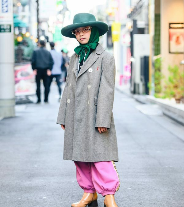 10-year-old Japanese Actress in Harajuku Wearing Vintage Fashion, Gentle Monster & Gucci