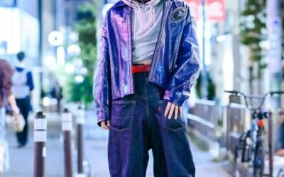 Tokyo Mens Style w/ NeonSign Backwards Wide Leg Jeans, NutEmperor Crocodile Leather Jacket, Barragan NYC & Hurley Leather Boots